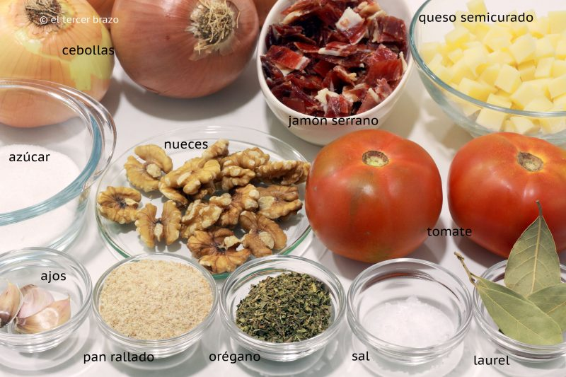 Ingredientes cebollas rellenas