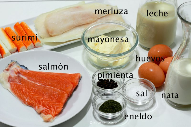 Pastel de pescado ingredientes